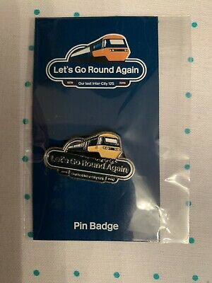 Official LNER HST Farewell Memorabilia 125 Years Very Rare Colectable Pinbadge