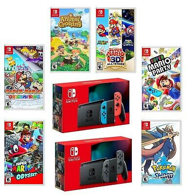 Nintendo Switch New Enhanced Battery Model Bundle with Choice of Game Brand New
