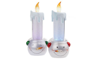Bethlehem Lights Set of 4 Warm Welcome Battery Op Window Candles Nickel