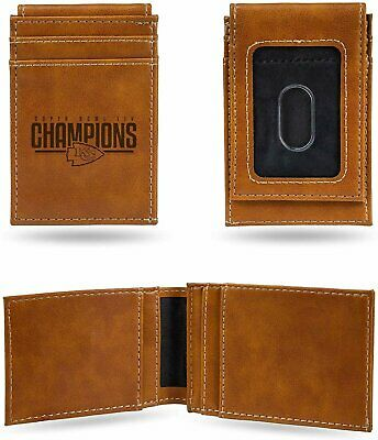 Kansas City Chiefs Super Bowl Champions Leather Front Pocket Wallet Money Clip