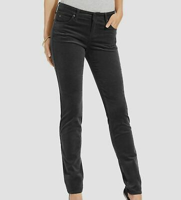 $295 Kut From The Kloth Women's Black Stretch Mid-Rise Skinny Corduroy Pants 14