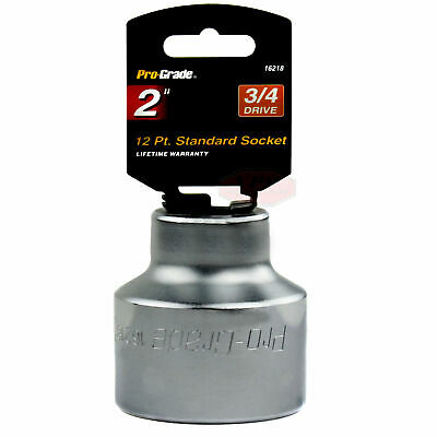 2 Inch Pro Grade 3/4 Inch Drive SAE Socket 12 Point Torque Jumbo Size Tools
