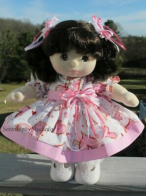 White Cascading Hearts Dress Outfit 4 My Child Doll (Doll NOT included!)