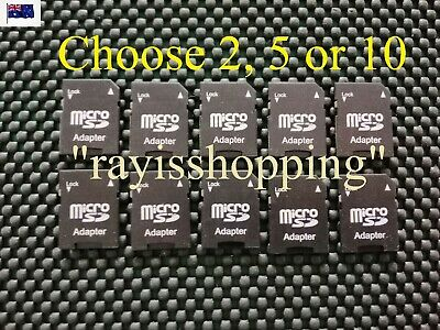 Choose 2, 5 or 10 MicroSD Adapter, Micro SD to Standard SD Card Converter Reader