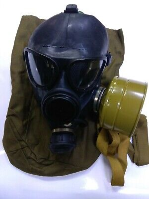 GAS MASK GP-7VM(PMK-1 black) drinking system (Mask,Filter,Bag), New,Russian Army