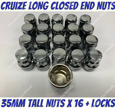 Alloy Wheel Nuts B Closed x 20 M12x1.5 Ford C Max Focus Granada Kuga Mondeo