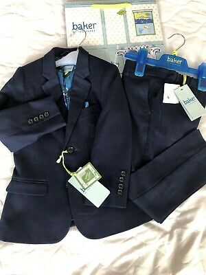 Ted Baker Boys 2pc Blazer Trouser Suit Blue Age 5 Years New With Gift Bag