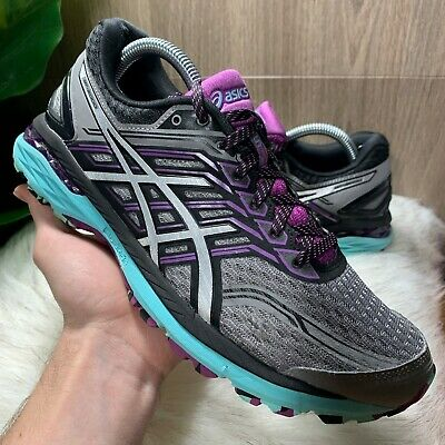 ASICS WOMEN'S T762N Purple Gray Running Trail Sneakers Shoes