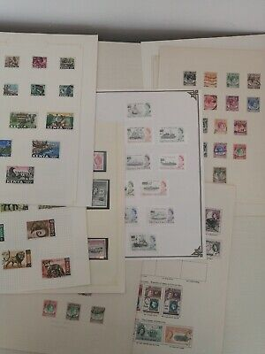 British Commonwealth Stamp Collection On 11 Pages inc Top Values