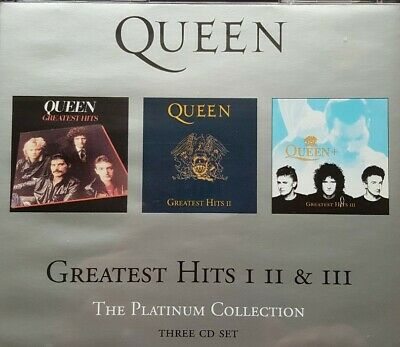Queen - Greatest Hits. The Platinum Collection, Vol. 1-3. 3xCD's. VG Condition