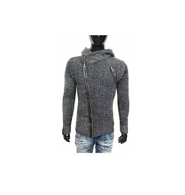 LCR Men/'s Fashion Slim Fit Pullover Knit Sweater Color Navy//Blue 1480