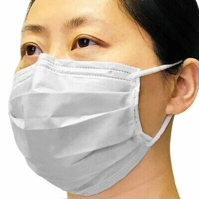 100 PCS Disposable Face Mask Medical Dental Industrial 3 Ply Coronavirus