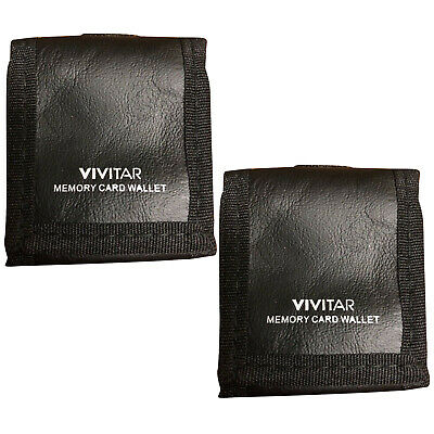 Vivitar Memory Card Wallet Mini Case Pouch for Memory Cards SD Micro - Pack of 2