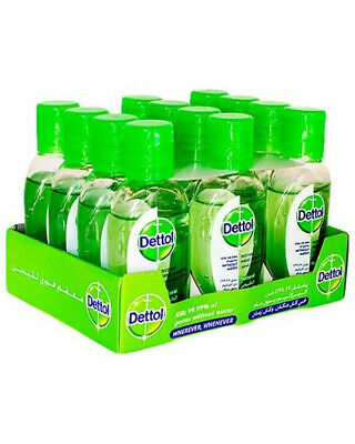 Original Dettol Instant Hand Sanitizer - 50 ml each (Pack of 10) Free Shipping