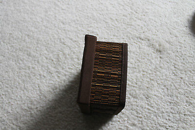 "Vintage/antique Chinese Bamboo/Wicker weaved sewing box 4-3/4""W"