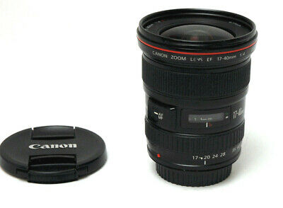 Canon EF 17-40mm f/4 L USM Used Excellent Condition - w / Caps, Clean,Tested