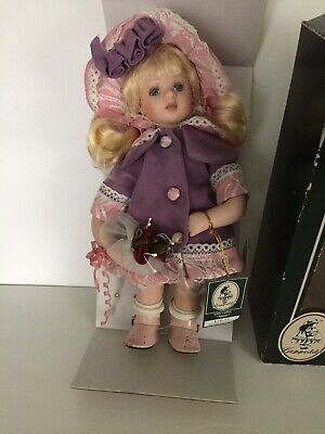 "Vintage GEPPEDDO DOLL LITTLE LADIES ""Alexis "" PORCELAIN. UNUSED w/tags"