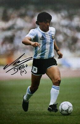Diego Maradona ~ Argentina  ~ SIGNED PHOTO 12X8 WITH COA