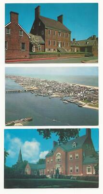 Maryland Postcards. 6 cards.  Annapolis.   Baltimore.  Ocean City