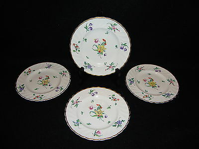 CLARICE CLIFF OLDE BRISTOL PORCELAIN Newport Pottery BREAD & BUTTER PLATES x 4