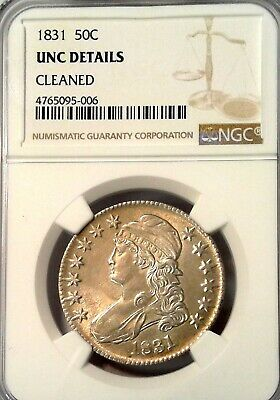 1831 Capped Bust Silver Half Dollar Ngc Choice Unc Details