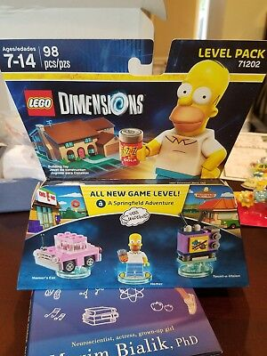 New Sealed Lego Dimensions Homer Simpson Level Pack 71202  The Simpsons