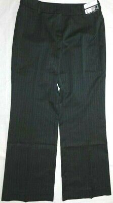 Womens pants NEW YORK & CO size 8 petite NEW city stretch gray pinstripe