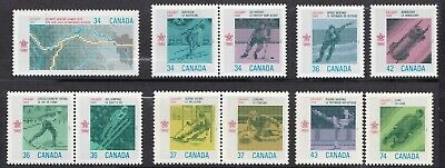 Canada 1986-1988 Set Of 11 Stamps To Commemorate The  Winter Olympic Games Mnh