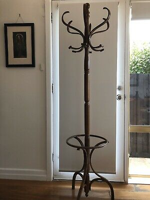 Antique Timber Victorian Coat And Hat Stand