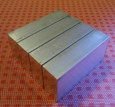 "4 pc 1"" X 2"" X 4"" aluminum 6061 T6 new solid plate flat bar stock mill block MT"