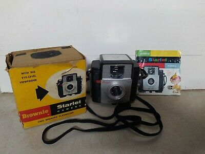 Vintage Collectible Kodak Brownie Starlet Camera with strap,box and manual.