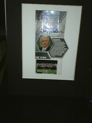 Sir Bobby Robson Hand Signed - Newcastle United Fc Signature Piece Mounted