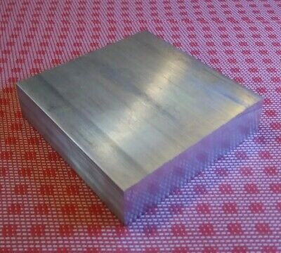 "1-1/4"" X 4"" X 4"" aluminum 6061 new solid plate flat bar stock mill block 1.5 MT"