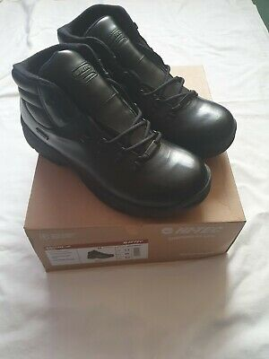 Hi-Tec Mens Eurotrek WP, Waterproof, Leather Black Boots Size 12-NEW