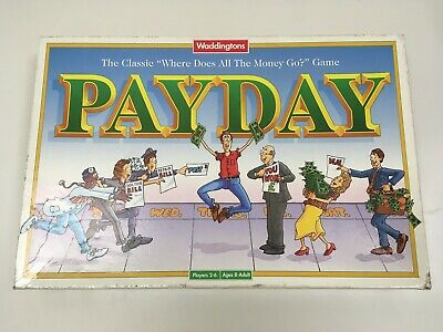 Vintage Payday Board Game Waddingtons 1994 Version Complete & Boxed Family Fun