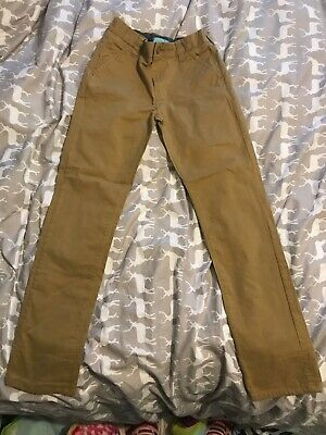 Boys Age 10 NEXT Brown Trousers/ Chinos