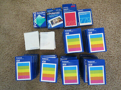 Polaroid 108, 778, 779, Sx-70, 669 Film Huge Lot Of 52 Boxes expired