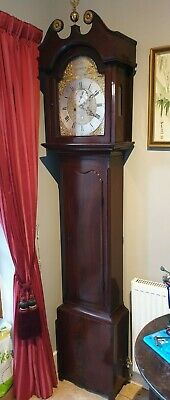 Grandfather clock c1750 by John Stewart Edinburgh.  Newly restored immaculate