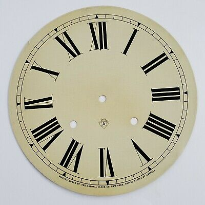 "Ansonia Clock Co. Antique Clock Painted Metal Dial 9-5/8"" Diameter"