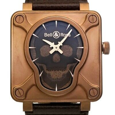 Bell & Ross Skull Bronze Automatic Winding Dial Black [h0209]