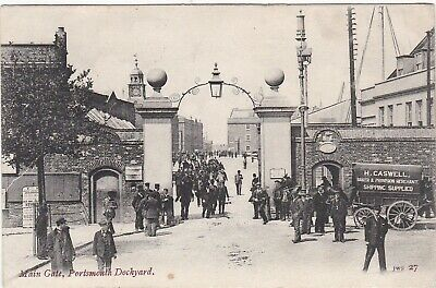 Main Gate To Dockyard & Caswell's Baker's Cart, PORTSMOUTH, Hampshire