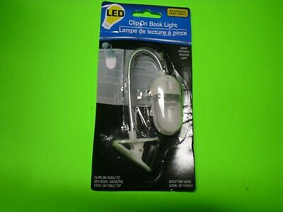 New ! Adjustable Angle Clip-On LED Book Light Great Portable Reading Light