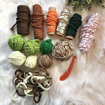 Maxi-Cord Twisted Cord Lot Green White Brown Tool Lot