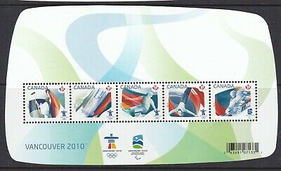CANADA 2009 OLYMPIC SPORTING EVENTS Souvenir Sheet VANCOUVER 2010 # 2299 -  MNH