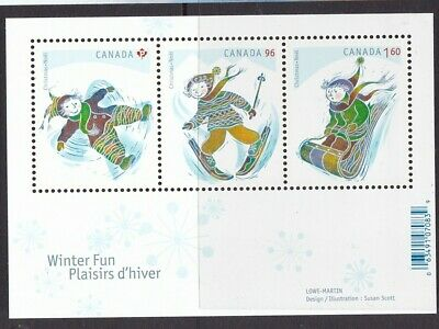 Canada 2008 Christmas Souvenir Sheet # 2291 With 3 Different Stamps Mnh