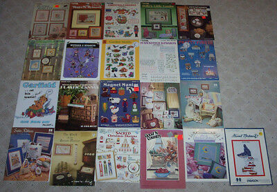 Lot Of Vintage Cross Stitch Patterns / Charts / Leaflets - Holiday Projects