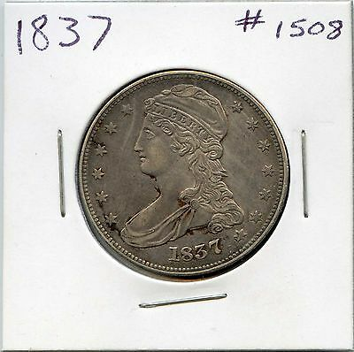 1837 50C Capped Bust Silver Half Dollar. Almost Uncirculated. Lot #1190
