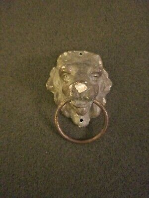 Antique Metal Cast Lion Door Knocker