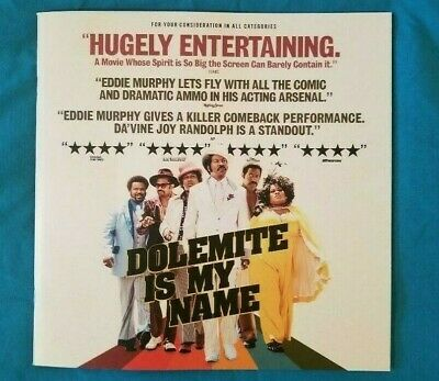 Dolemite Is My Name Fyc Promotional Awards Booklet Eddie Murphy Tituss Burgess