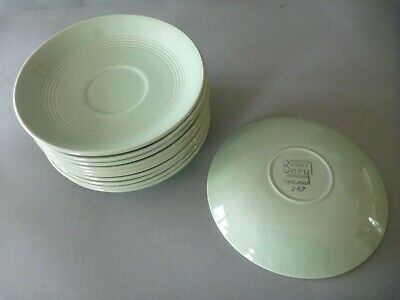 Woods Ware Beryl - Green - Tea Cup Saucers (quantity available)